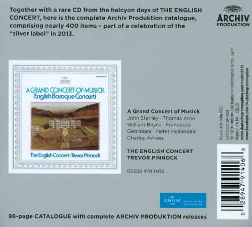 A Grand Concert Of Musick: English Baroque Concerti [Includes Archiv Produktion Catalogue]