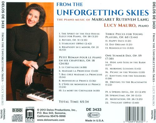 Margaret Ruthven Lang: From the Unforgetting Skies