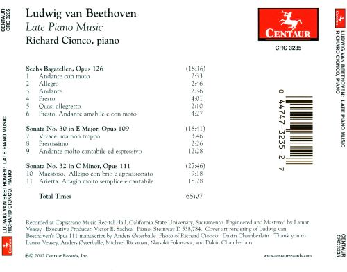 Beethoven: Late Piano Music