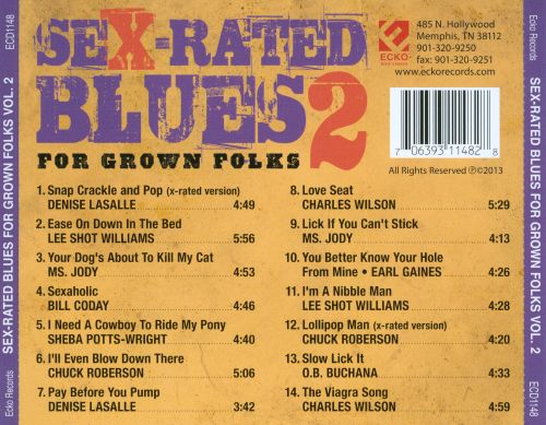 Sex-Rated Blues for Grown Folks, Vol. 2