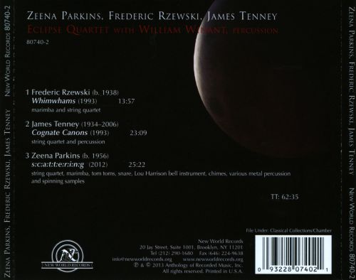 Eclipse Quartet plays Parkins, Rzewski & Tenney