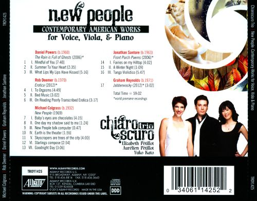 New People: Contemporary American Works for Voice, Viola & Piano