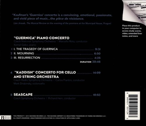 Fredrick Kaufman: Guernica Piano Concerto and Other Orchestral Works
