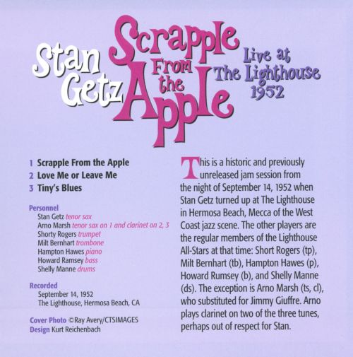 Scrapple from the Apple: Live at the Lighthouse 1952