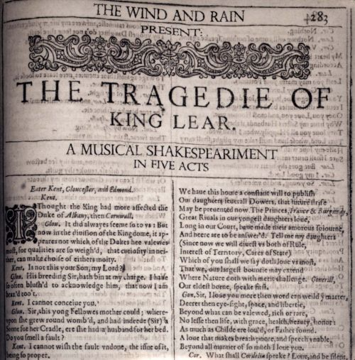The Tragedie of King Lear: A Musical Shakespeariment in Five Acts