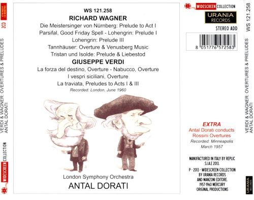 Verdi, Wagner: Overtures and Preludes