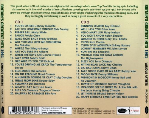 Britain's Greatest Hits 1961