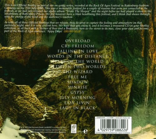 Official Bootleg, Vol 6: Live At the Rock of Ages Festival Germany 2008