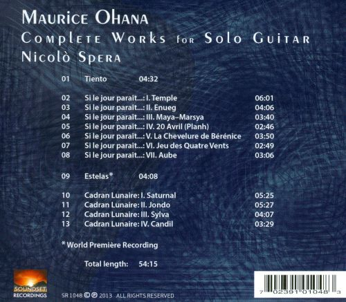 Maurice Ohana: Complete Works for Solo Guitar