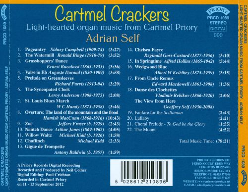 Cartmel Crackers - Light-hearted organ music from Cartmel Priory