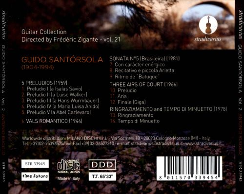 Guido Santórsola: Solo Guitar Works, Vol. 2