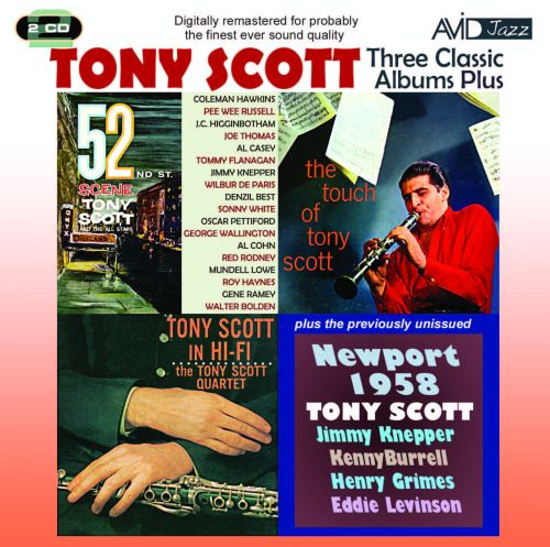 Three Classic Albums Plus (52nd St Scene/Tony Scott In Hi-Fi/the Touch of Tony Scott)