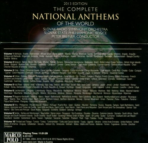 The Complete National Anthems of the World, Vol 3: 2013 Edition