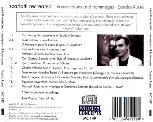 Scarlatti Recreated: Transcriptions and Hommages