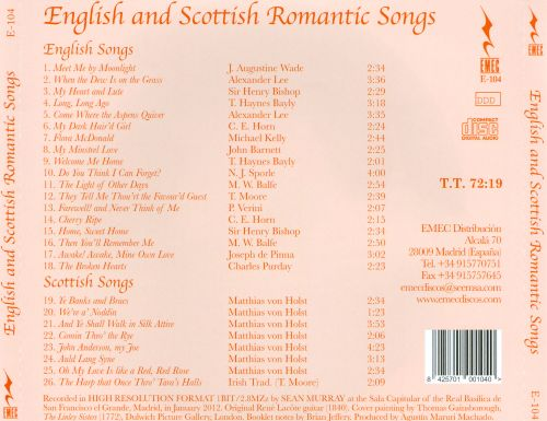 English and Scottish Romantic Songs for Voice and Guitar