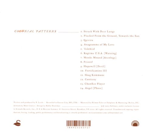 Colonial Patterns Huerco S Songs Reviews Credits AllMusic Enchanting Colonial Patterns