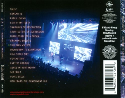 countdown to extinction live megadeth songs reviews