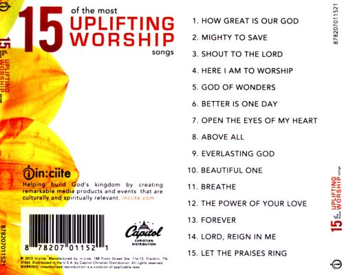 Uplifting worship songs