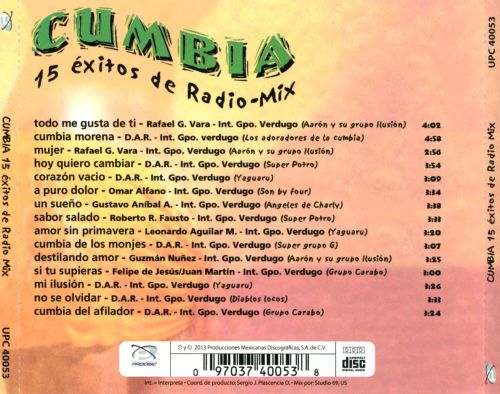 Cumbia: 15 Éxitos de Radio Mix