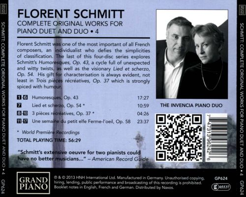 Florent Schmitt: Complete Original Works for Piano Duet and Duo, Vol. 4