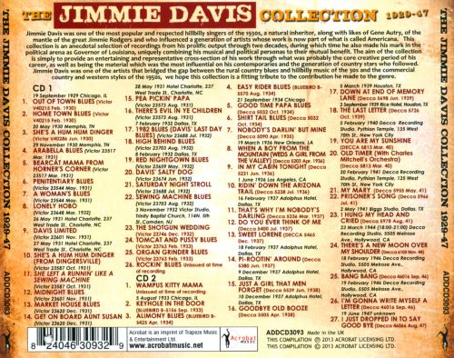 The Jimmie Davis Collection: 1929-1947