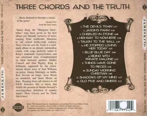 Three Chords The Truth James King Songs Reviews Credits