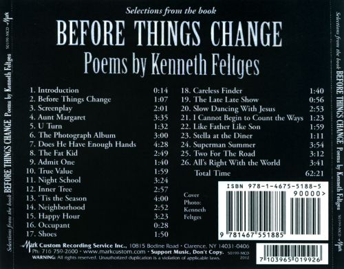 Selections from the Book Before Things Change: Poems by Kenneth Feltges