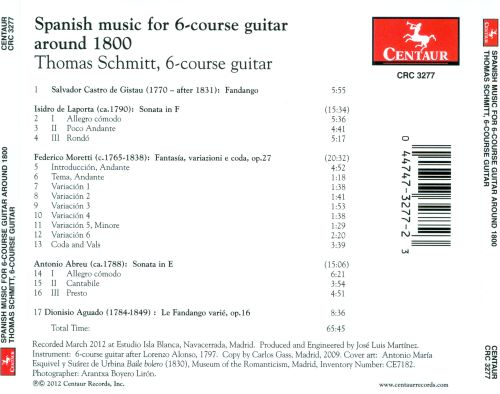 Spanish Music for Six-Course Guitar around 1800