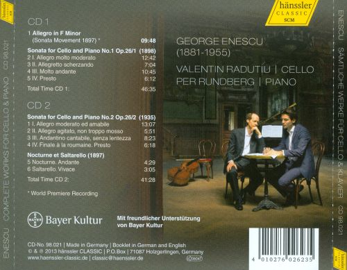 Enescu: Complete Works for Cello and Piano