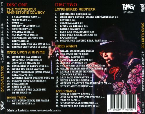 The  Mysterious David Allan Coe: 4 Classic Albums 1974-1978