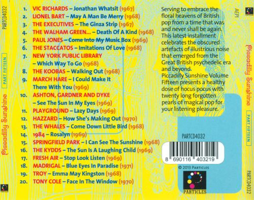 Piccadilly Sunshine, Pt.15: British Pop Psych and Other Flavours 1967-1971