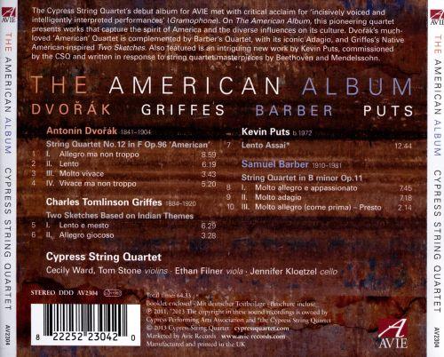 The American Album: Dvorák, Griffes, Barber, Puts
