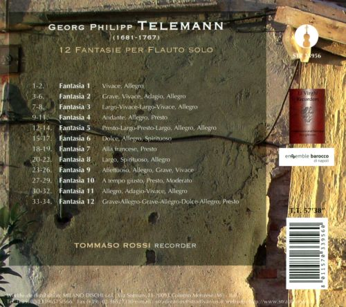 Telemann: 12 Fantasies for solo flute