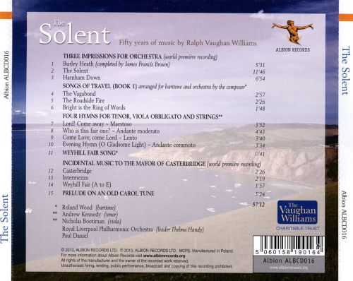 The Solent: Fifty Years of Music by Ralph Vaughan Williams