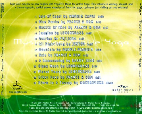 Music for Active Yoga, Vol. 8