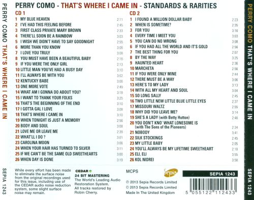 That's Where I Came In: Standards & Rarities