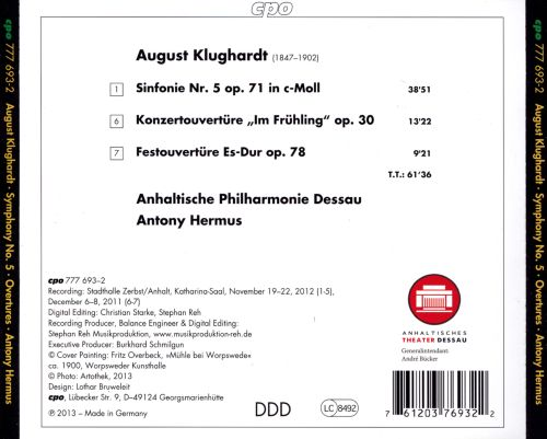 August Klughardt: Symphony No. 5; Overtures