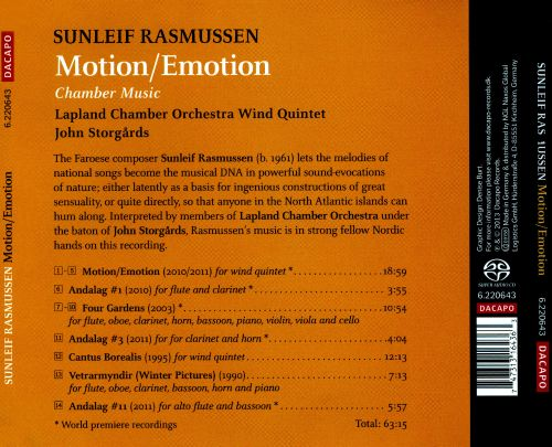 Motion/Emotion: Chamber Music by Sunleif Rasmussen