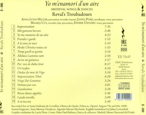Yo m'enamori d'un aire: Medieval Songs & Dances