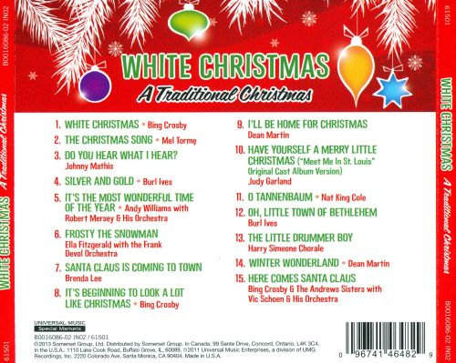 1 white christmas a traditional christmas vol 1 - Andy Williams White Christmas