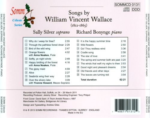 Songs by William Vincent Wallace