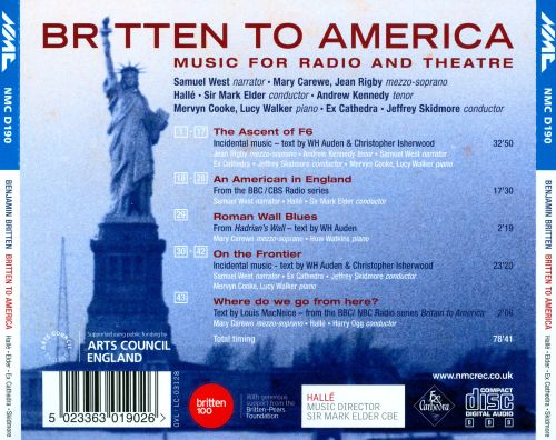 Britten to America: Music for Radio and Theatre