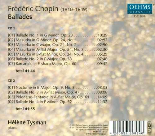 Chopin: Ballades, Vol. 2