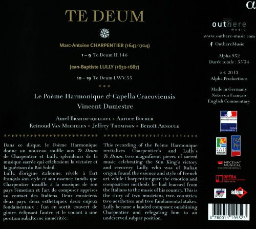 Te Deum: Charpentier & Lully