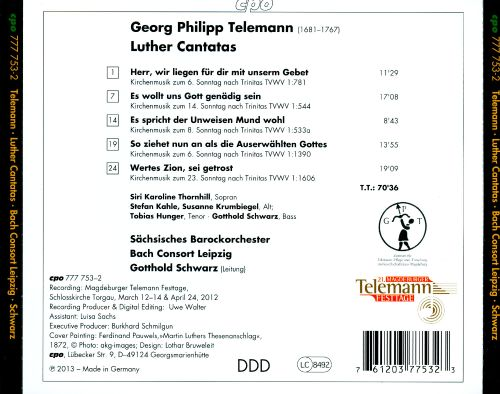 Telemann: Luther Cantatas