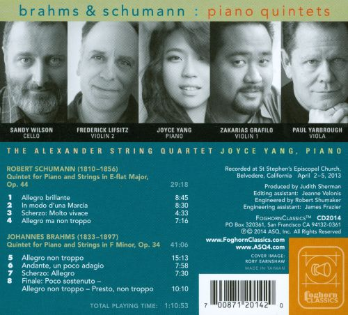 Brahms & Schumann: The Piano Quintets