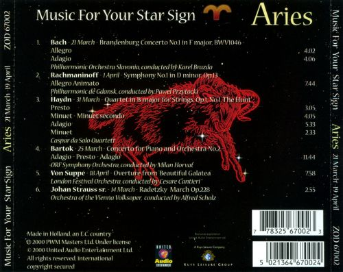 Music for Your Star Sign: Aries
