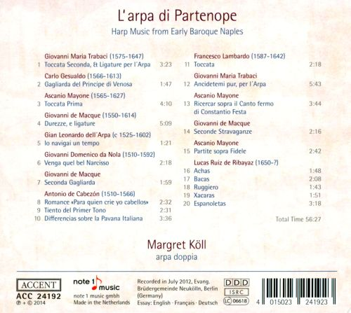L' Arpa di Partenope: Harp Music from Early Baroque Naples