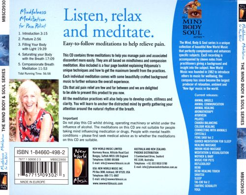 Mindfulness Meditaion for Pain Relief