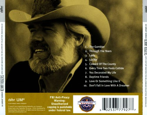 20th Century Masters - The Millennium Collection: The Best of Kenny Rogers [2014]